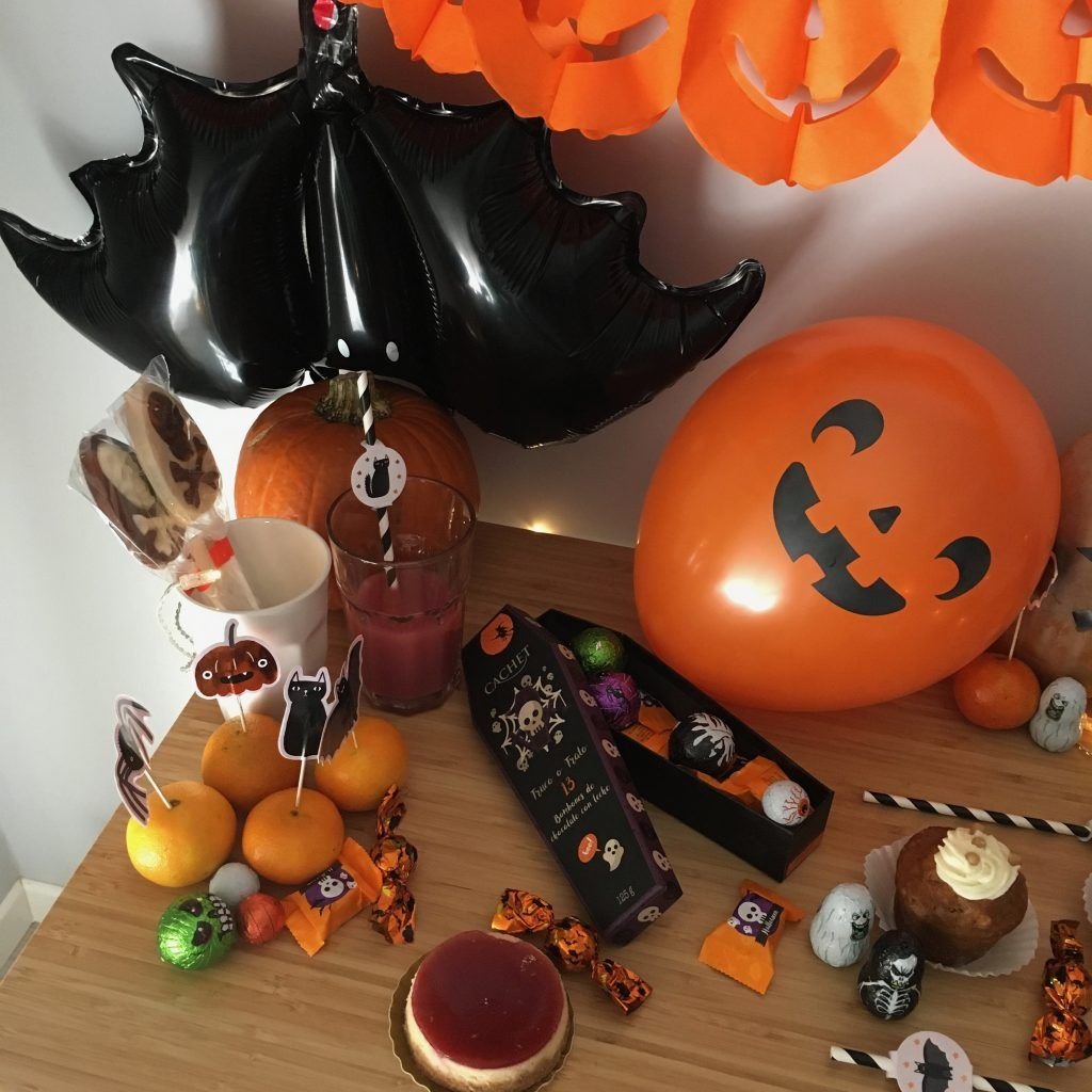detalle mesa halloween